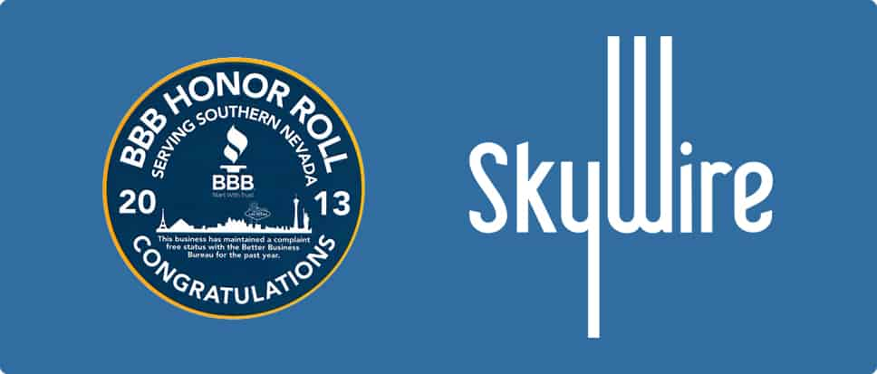 SkyWire Awarded Better Business Bureau Honor Roll